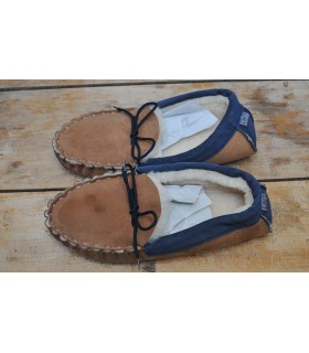 Slippers moccasin in guenuine lambskin default
