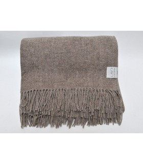 Throw pure merino wool beige spring winter