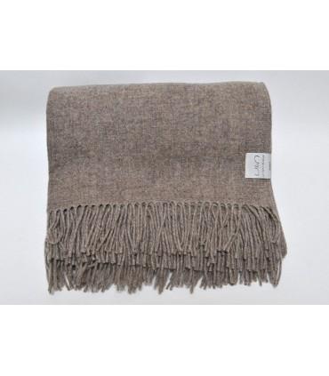 Throw pure merino wool beige spring winter