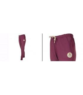 Pantalon pure laine mérinos femme de Jogging sport purple