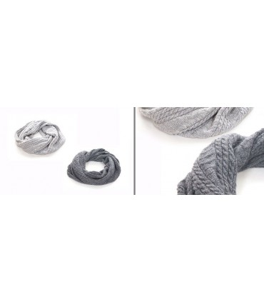 Tube Scarf in wool and silk for Women
