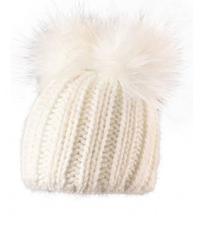 Bonnet laine et double pompon