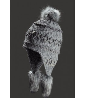 peruvian mottled wool beanie fleece lined