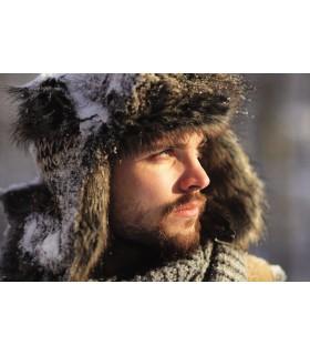 Chapka homme en laine et fourrure