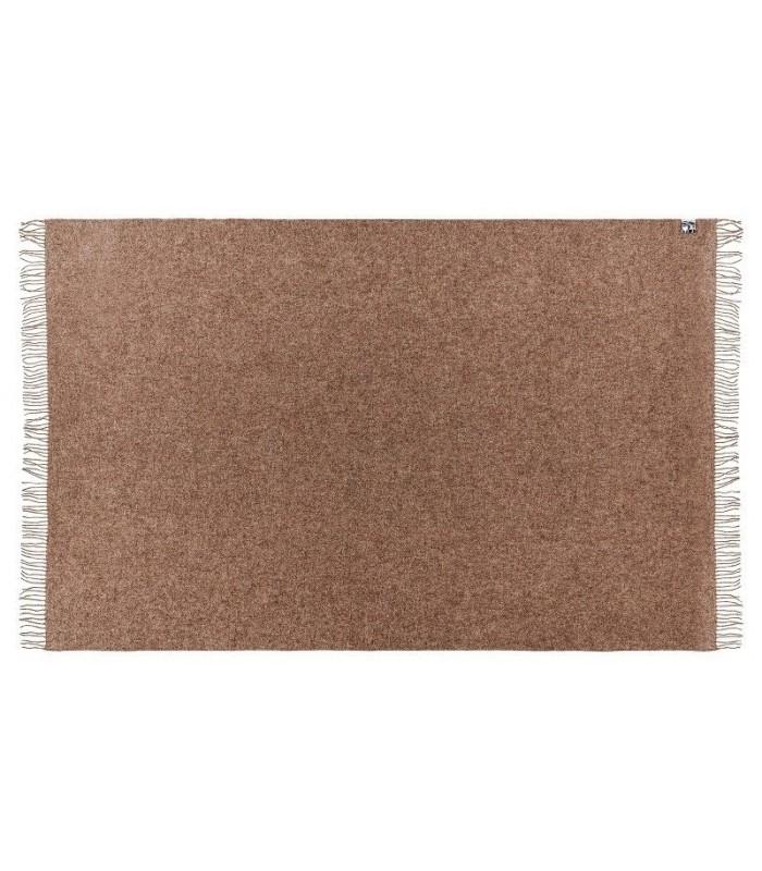 plaid alpaga et pure laine vierge cru beige ou marron. Black Bedroom Furniture Sets. Home Design Ideas
