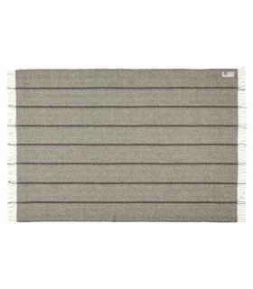 Striped gray throws pure wool Scandinavian