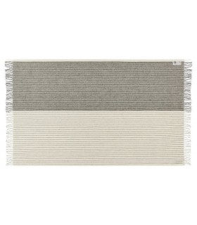 Gray pleas pure striped Plaid wool Scandinavian 140 x 240 cm