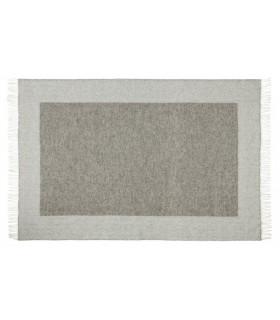 Plaids en pure laine scandinave gris grand carré