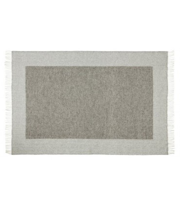Plaid gris grand carré en pure laine vierge scandinave