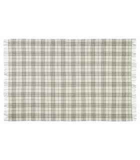 Plaids gris et écru en pure laine scandinave