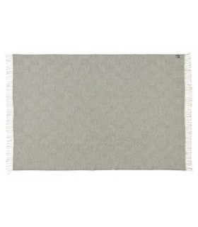Plaid gris chevron en pure laine vierge scandinave
