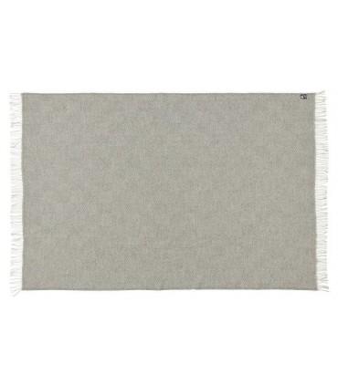 Plaid gris et ecru chevron en pure laine vierge scandinave