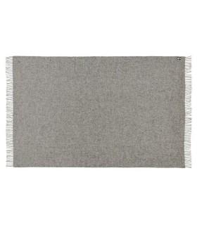 Plaid en pure laine vierge scandinave gris argent