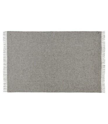 Plaid gris argent en pure laine vierge scandinave