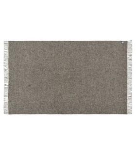 Plaid en pure laine vierge scandinave gris