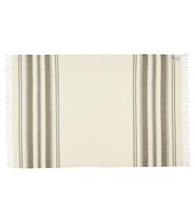 Gris antracita puro plazas lana Plaid escandinavo 140 x 240 cm