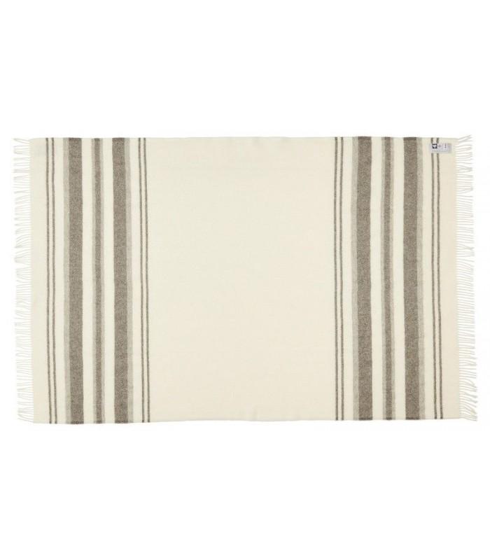 Pure anthracite grey squares Plaid wool Scandinavian 140 x 240 cm