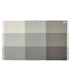 Decken grau weiss oder braun weiss in reiner schurwolle 140x240 cm