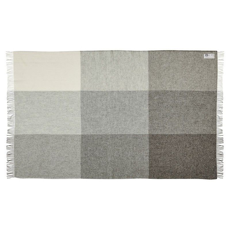 Plaids gris carreaux sans colorants en pure laine for Plaid contemporain