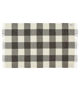 Gris de lana pura de cuadros de súplicas escandinavo 140 x 240 cm