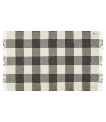 Decken grau Schottenkaro Schurwolle skandinavischen 140 x 240 cm