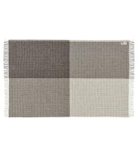 Grau und natur gestreift Decken Schurwolle skandinavischen 140 x 240 cm