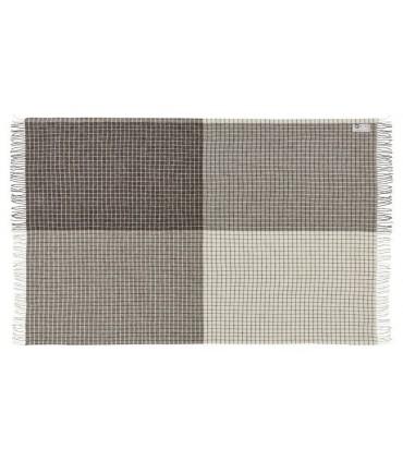 Las mantas rayas de lana pura escandinavo 140 x 240 cm Gris