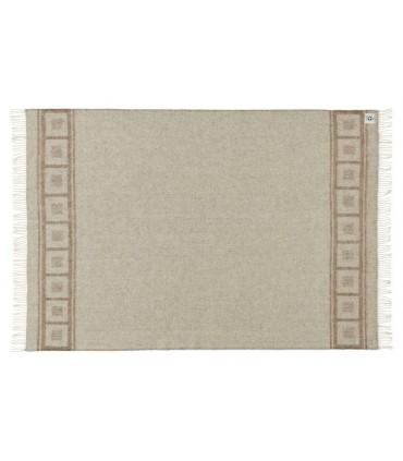 Decken grau weiss in reiner schurwolle 140x240 cm