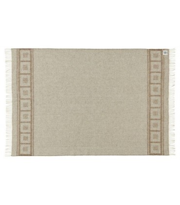 Pure Wool throws grey squares and off white