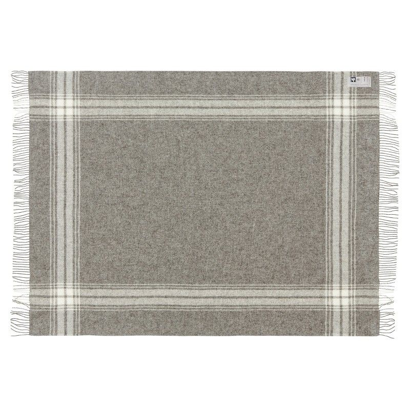 plaid gris fines bandes en pure laine vierge scandinave. Black Bedroom Furniture Sets. Home Design Ideas