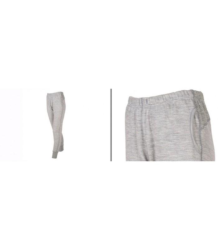 Pantalon pure laine mérinos femme de Jogging sport gris new
