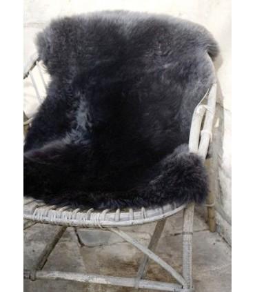 Grandes Peaux de mouton décoration tannage végétal ecru ou gris