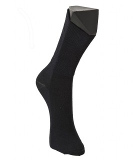 Woman untightened cotton striped socks
