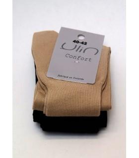 Chaussettes femme non comprimantes coton noir