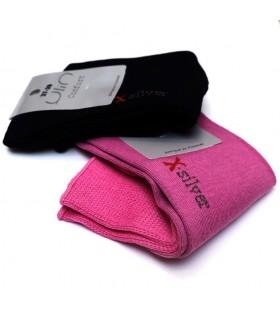 Chaussettes femme non comprimantes coton et X silver