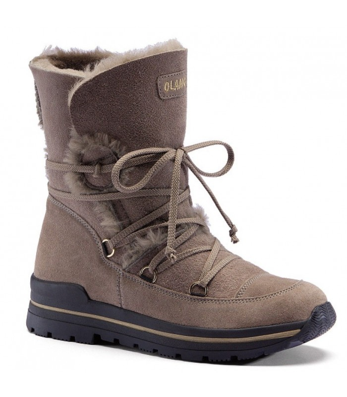 Women's snow boot moka hydro repellent natural York leather upper