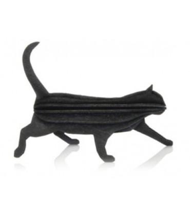 Gato negro de madera correo LOVI decoración