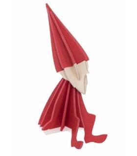 Elfe en bois de bouleau rouge décoration LOVI à envoyer par la poste