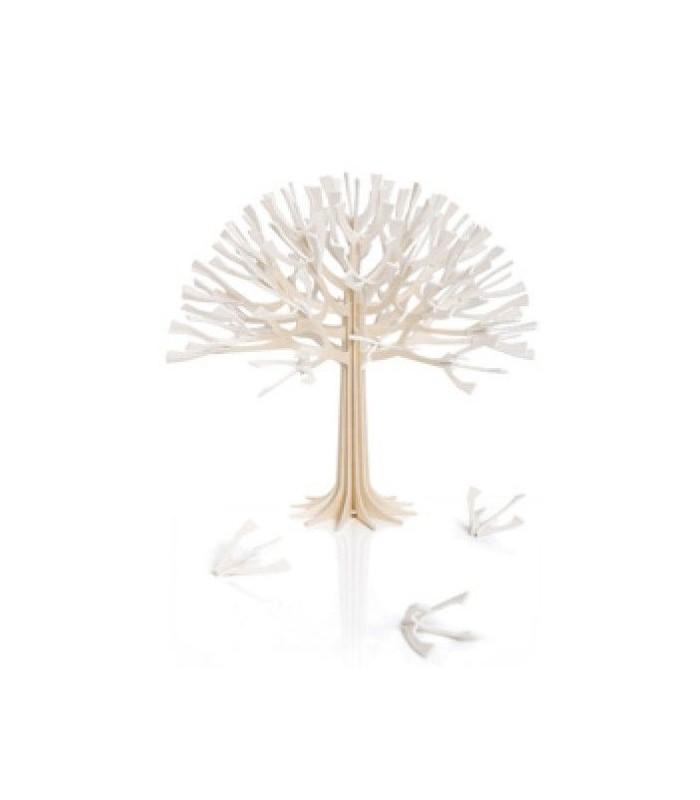 Arbre de décoration en bois de bouleau LOVI rose ou naturel