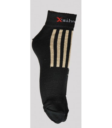 X silver cotton running technicals socks