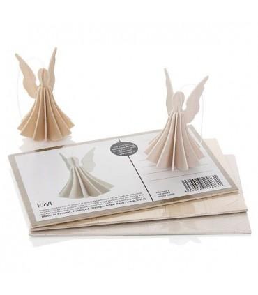 Ange blanc en bois LOVI cadeau moblie et carte postale