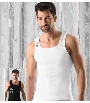 2 Pack Men's Tankopin pure cotton Bio white or black