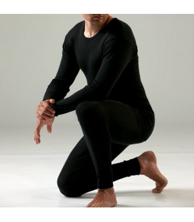 d9c17b5d854f9 Caleçon leggins homme en laine et soie noir