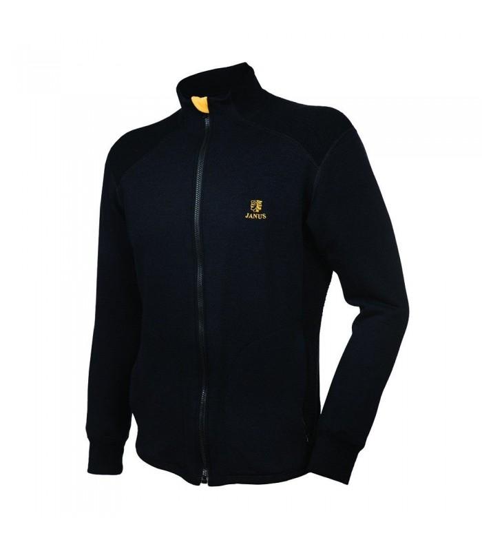 Veste jogging homme 100% laine mérinos noir