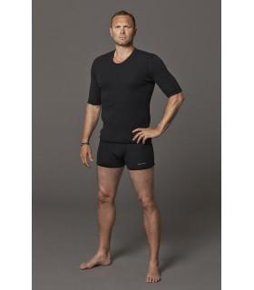 men's boxershorts in pure merino wool black