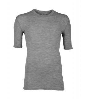 Grau Herren T-shirt reine Merinowolle