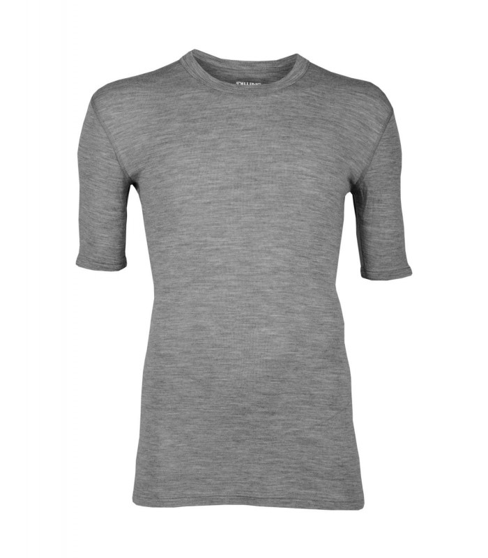Tee shirt gris homme pure laine mérinos