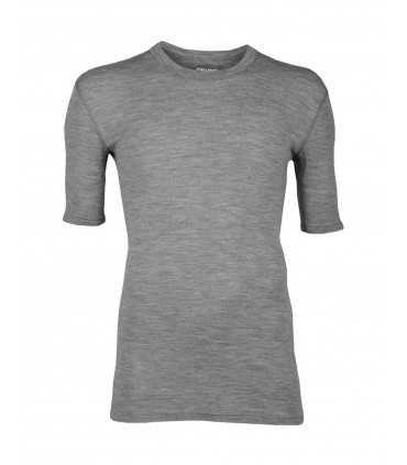 Green or grey men t-shirt pure Merino Wool