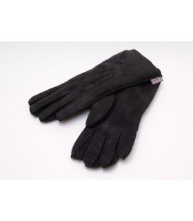 gants luxueux peau agneau noir