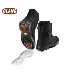 Chaussures avec crampons amovibles anti-glisse Olang